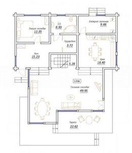 Дом в Новосадовом 218,9 кв. м