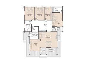 Дом в Новосадовом 279,3 кв. м