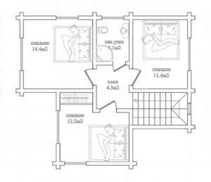 Дом в Ступино 129,8 кв. м