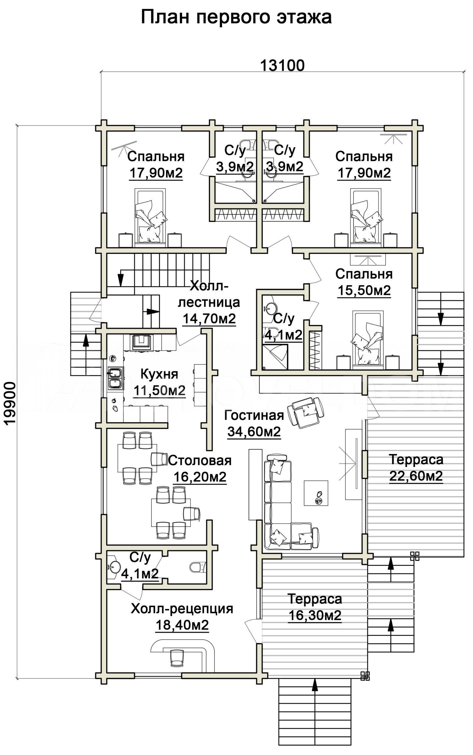 Гостиница в Ракитном